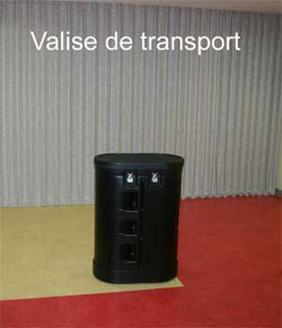 valise de transport pour stand parapluie et banque d'accueil aubagne