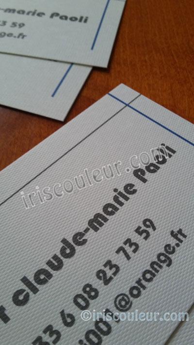 Imprimeur Impression Cartes De Visite Papier Texture Marseille
